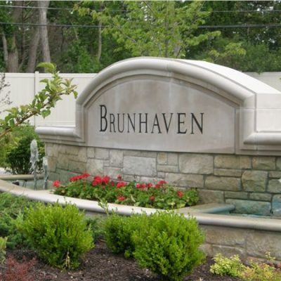Indiana Limestone Sign & Coping
