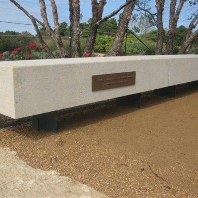 EW Gold Cut Stone Bench