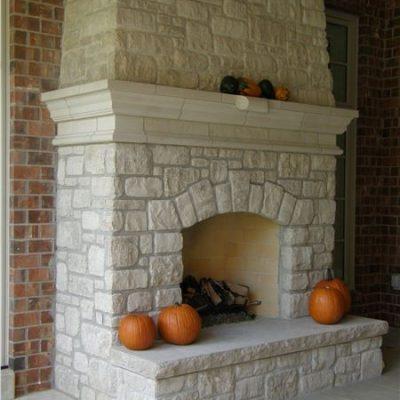 aux vases stone mantle