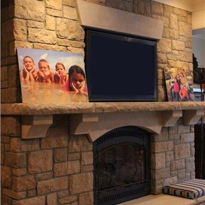 ew gold fireplace surround