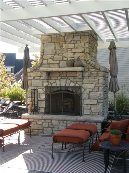 Outdoor Stone Fireplaces Earthworks