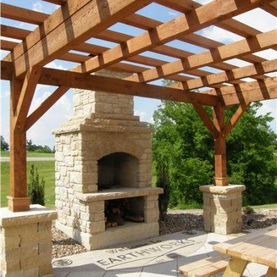 dove gray veneer fireplace