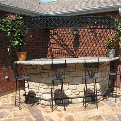 country villa outdoor kitchen