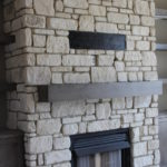 Natural Indoor Stone Fireplace