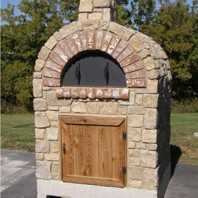 country villa tumbled stone pizza oven