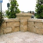 ew gold stone retaining wall