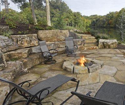 Limestone Firepit