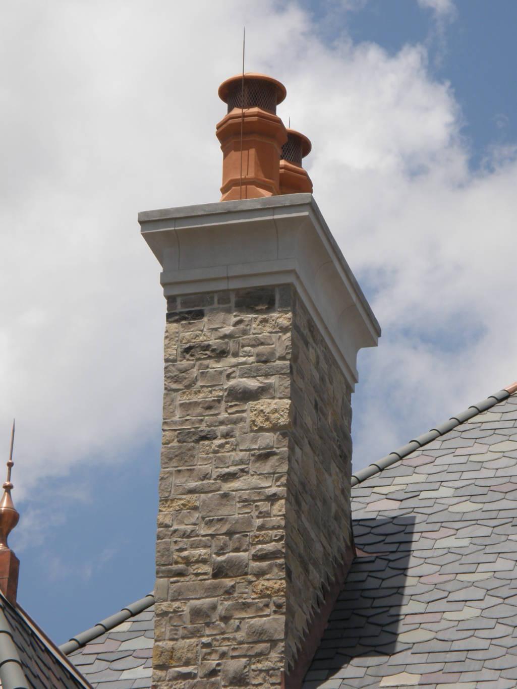 Stone Chimney Caps : Chimney caps earthworks natural stone
