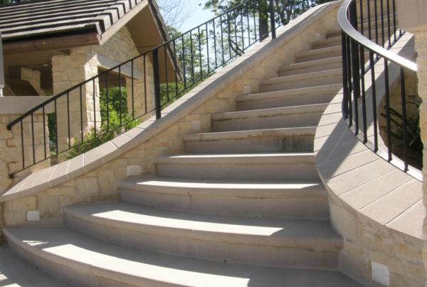 Indiana Limestone Bullnosed Treads