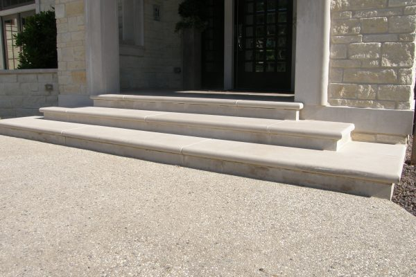Indiana Limestone Bullnosed Treads