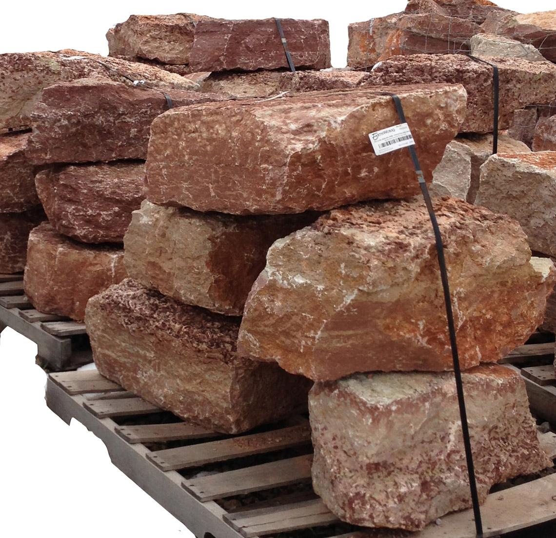 Earthworks Natural Stone : Meridan red boulders ledgerock earthworks natural stone