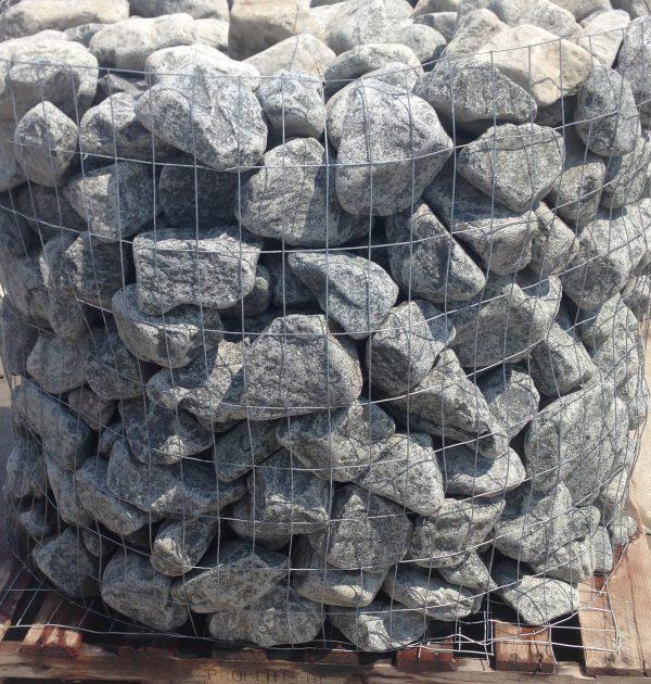 Cobalt black granite tumbled cobblers earthworks natural for Black granite landscape rock