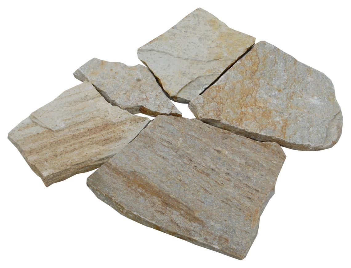 Earthworks Natural Stone : Golden quartz flagstone earthworks natural stone