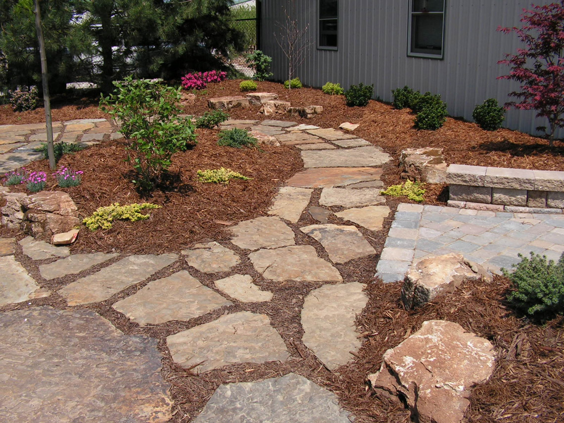 hickory star flagstone steppers earthworks natural stone