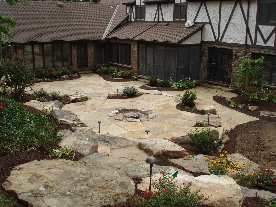 Shawnee gardens nursing home marr landscaping of kansas for Landscaping rocks in kansas city