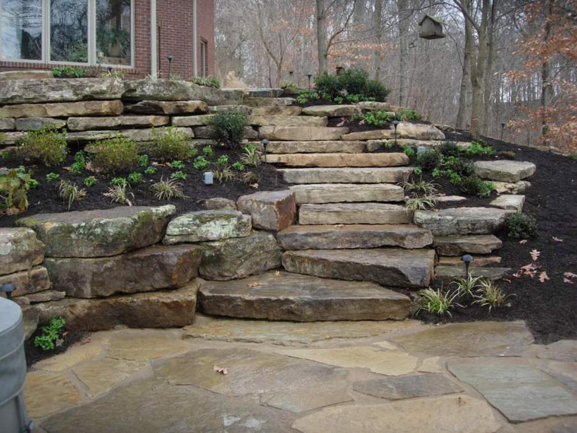 Weathered Granite Stone : Weathered sandstone irregular step earthworks natural stone