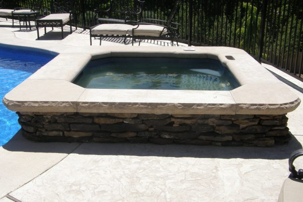Aux Vases Buff Rockfaced Pool Coping